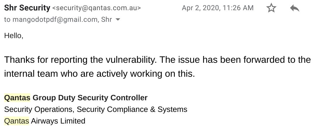Reply from Qantas security-medium